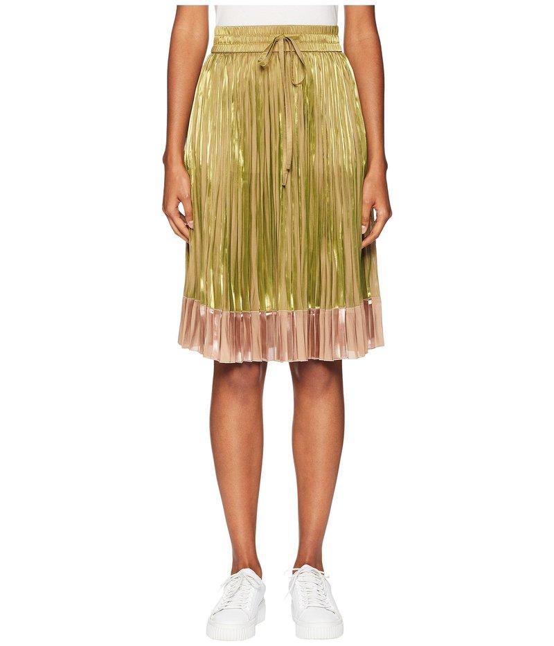レッドヴァレンティノ レディース スカート ボトムス Light Iridescent Fluid Fabric Metallic Gold/Pink