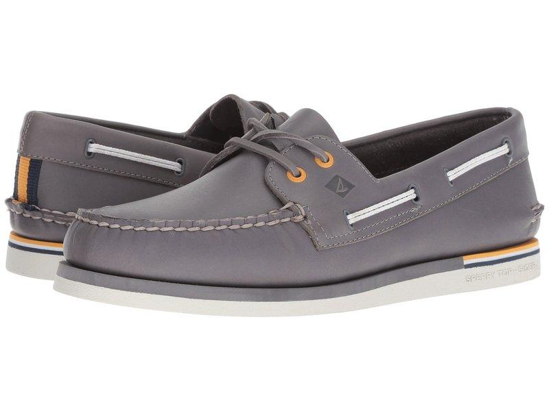 スペリー メンズ デッキシューズ シューズ A/O 2-Eye Nautical Leather Grey Leather