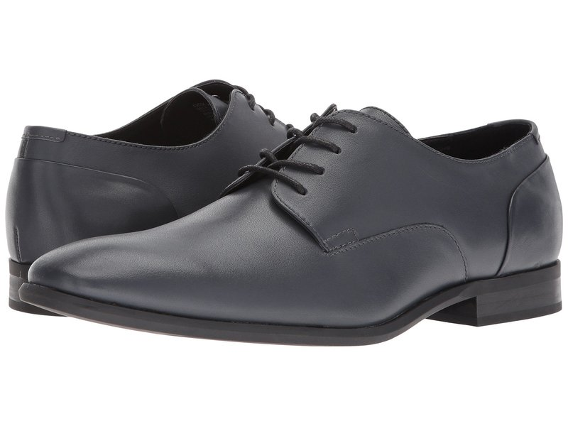 カルバンクライン メンズ オックスフォード シューズ Lucca Dress Dark Grey Calf