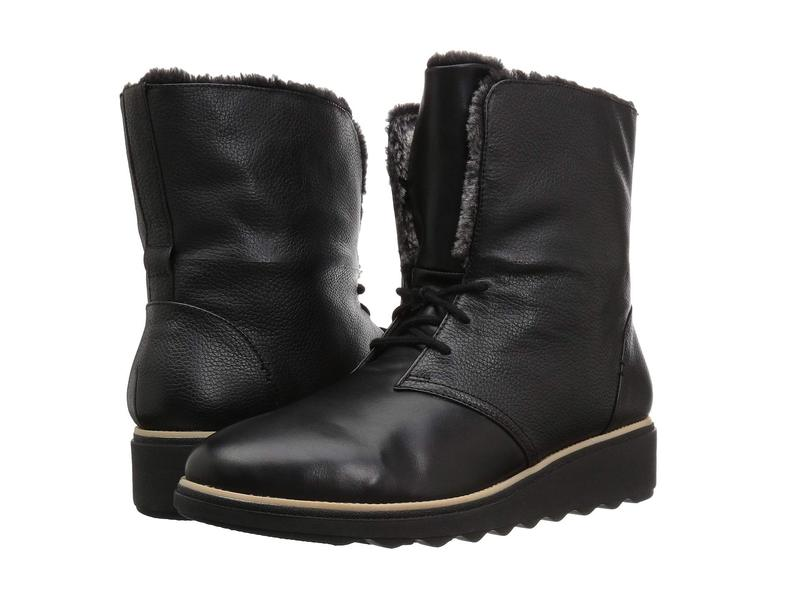 クラークス レディース ブーツ・レインブーツ シューズ Sharon Pearl Black Leather