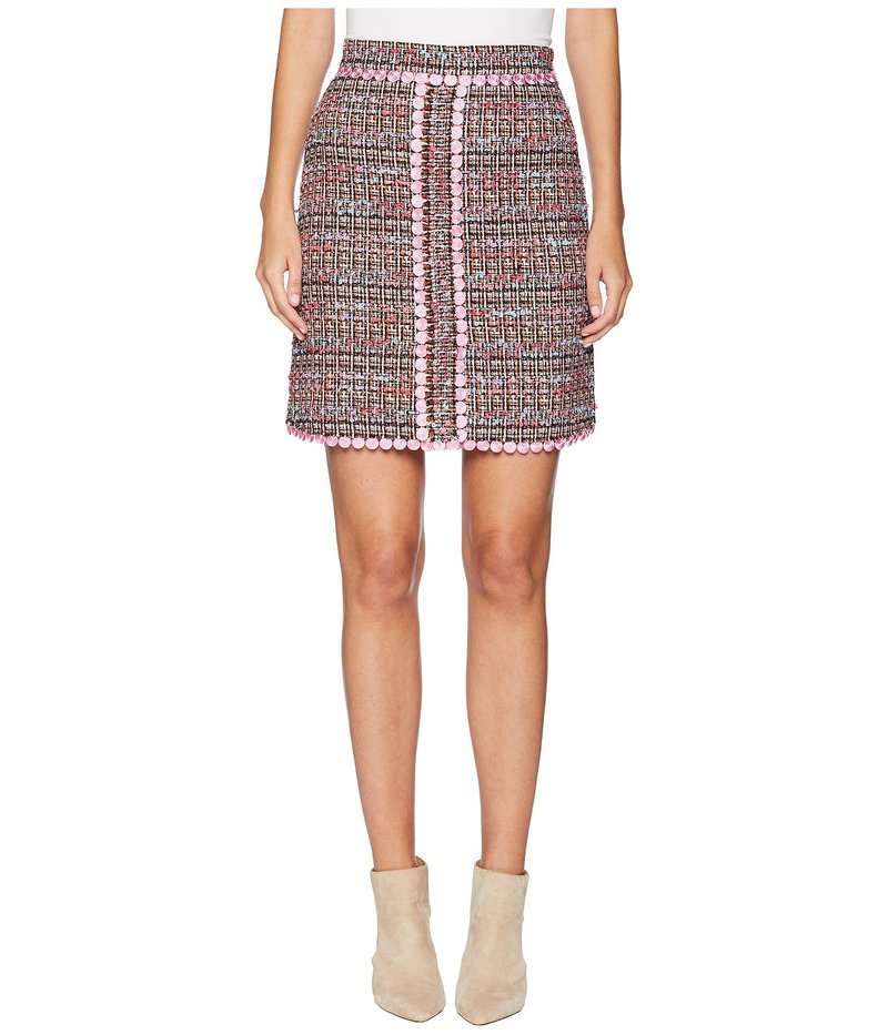 ブティックモスキーノ レディース スカート ボトムス Tweed Mini Skirt Fantasy Print Pink