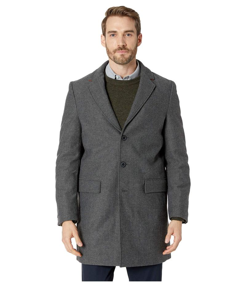 カルバンクライン メンズ コート アウター Herringbone Overcoat Charcoal