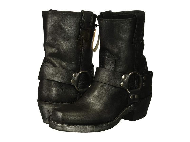 フライ レディース ブーツ・レインブーツ シューズ Harness 8R Black Multi Metallic Oiled Leather