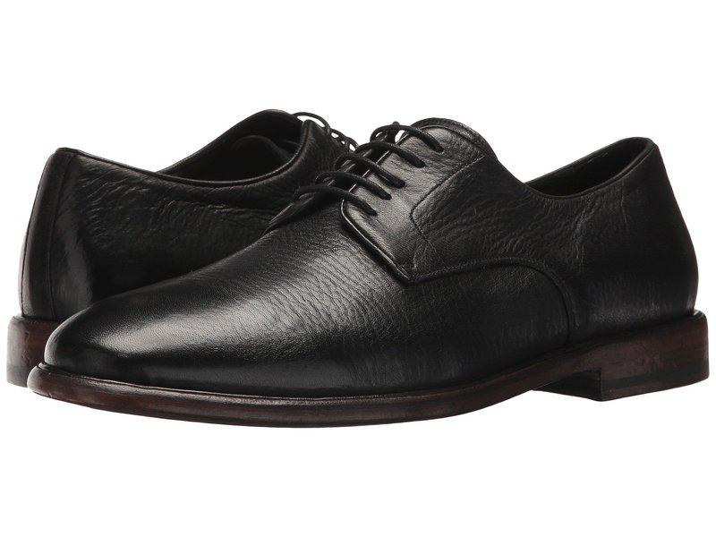 フライ メンズ オックスフォード シューズ Fisher Oxford Black Deer Skin Leather