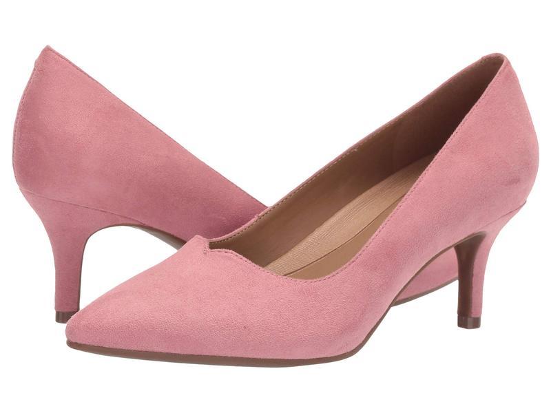 エアロソールズ レディース ヒール シューズ Anagram Pink Fabric Microfiber