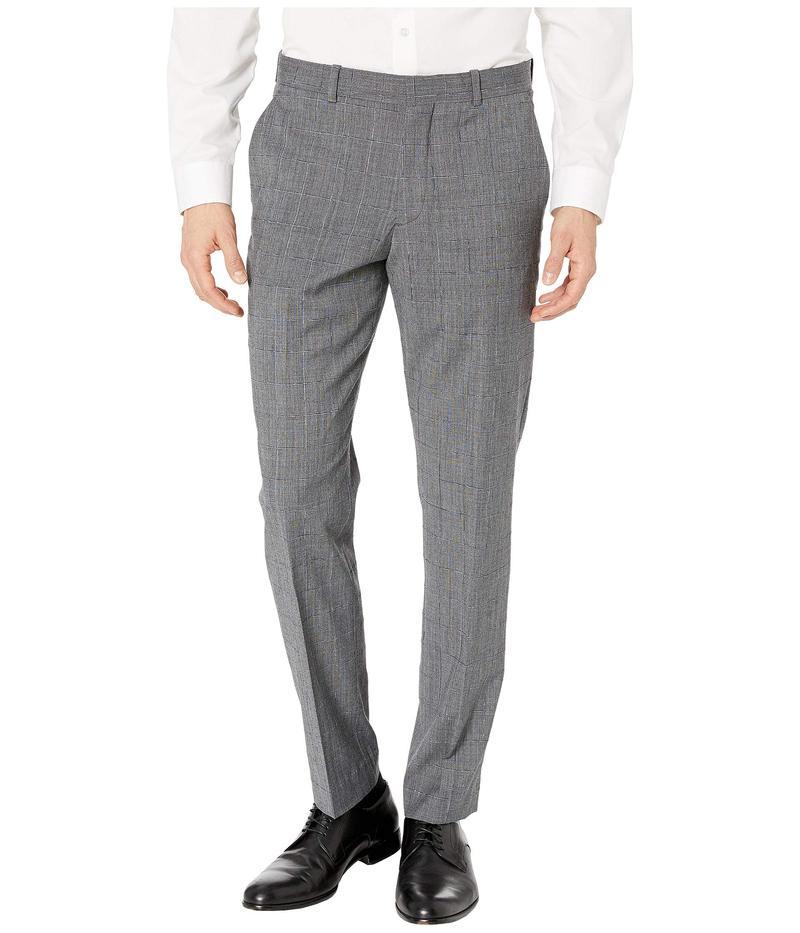 ペリーエリス メンズ カジュアルパンツ ボトムス Slim Fit Stretch Wool Plaid Dress Pants Charcoal