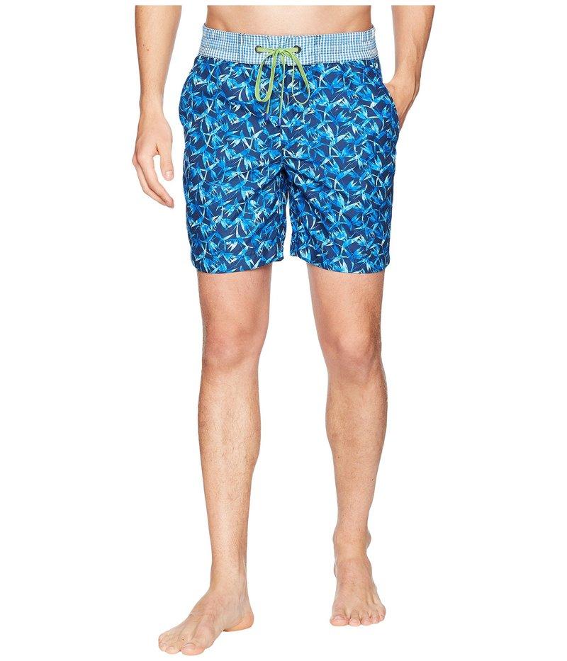 ロバートグラハム メンズ ハーフパンツ・ショーツ 水着 Santa Maria Woven Swim Trunk Blue
