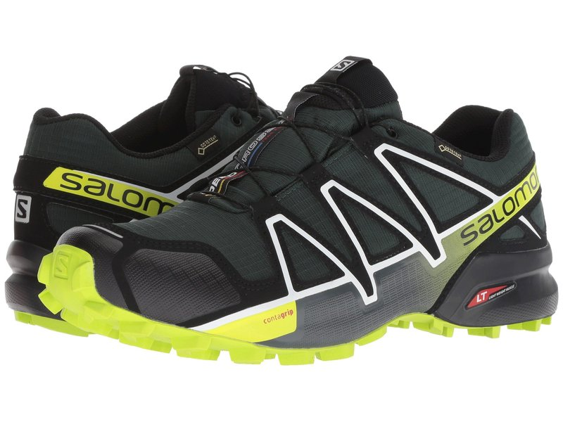 サロモン メンズ スニーカー シューズ Speedcross 4 GTX Darkest Spruce/Black/Acid Lime