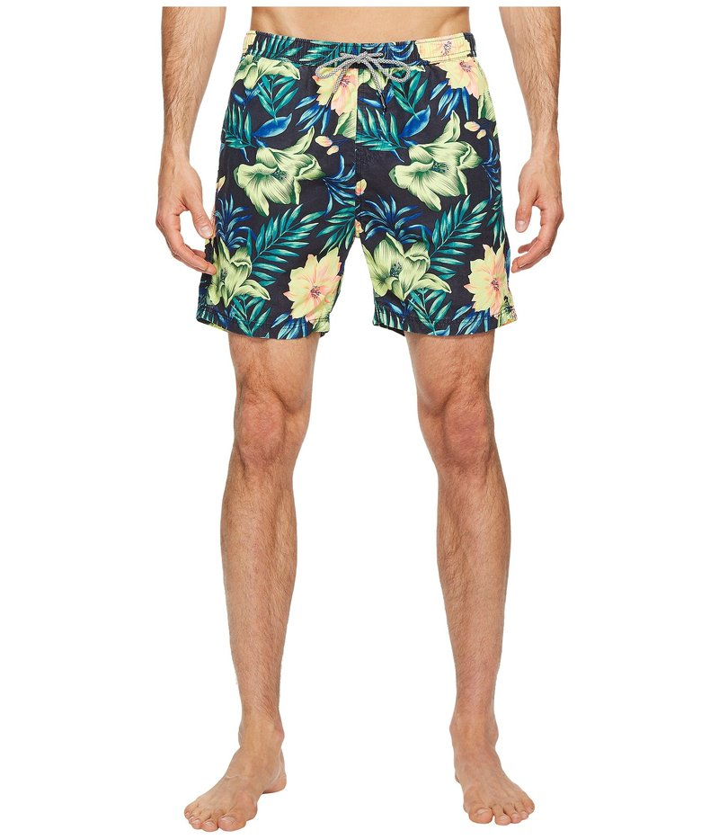 スコッチアンドソーダ メンズ ハーフパンツ・ショーツ 水着 Medium Length Swim Shorts in Cotton/Nylon Quality with All Over Combo G