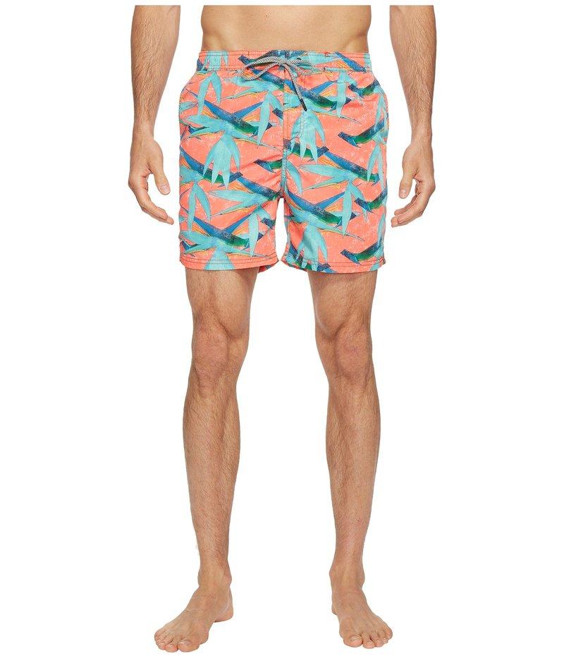 スコッチアンドソーダ メンズ ハーフパンツ・ショーツ 水着 Swim Shorts in Polyester Quality with All Over Print and Contrast Inside Waistband Combo G