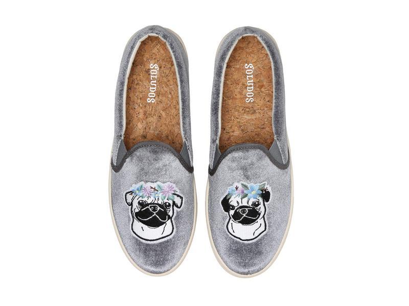 ソルドス レディース スニーカー シューズ Flower Pug Slip-On Sneaker Grey