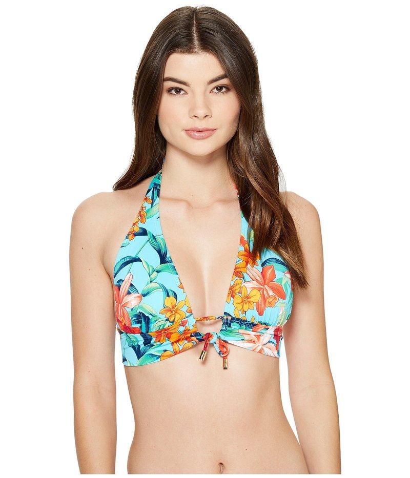 トッミーバハマ レディース トップのみ 水着 Floriana Halter Bikini Top With Loop True Turquoise