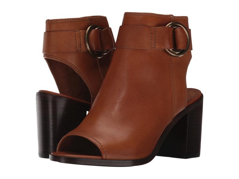 フライ レディース ヒール シューズ Danica Harness Brown Smooth Vintage Leather