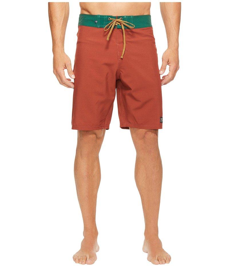 ユナイテッドバイブルー メンズ ハーフパンツ・ショーツ 水着 Classic Trailblaze Boardshorts Orange