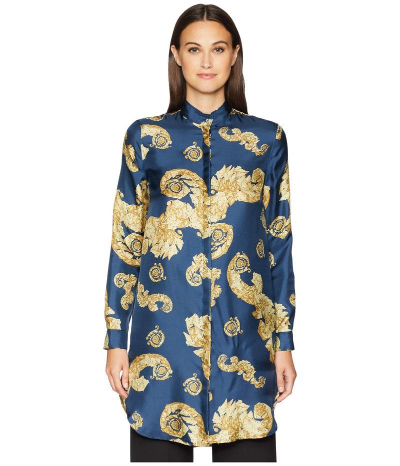 ヴェルサーチ レディース ワンピース トップス Shirts - Stampa Shirtdress Blue