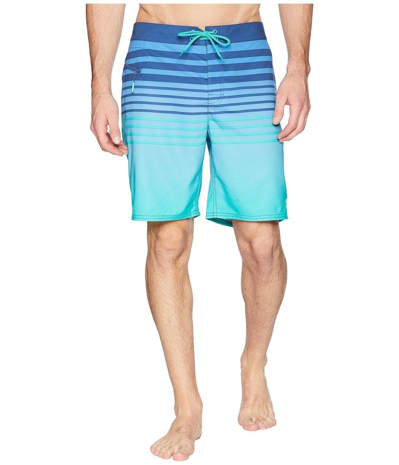 ヴァインヤードヴァインズ メンズ ハーフパンツ・ショーツ 水着 Surflodge Stripe Boardshorts Antigua Green