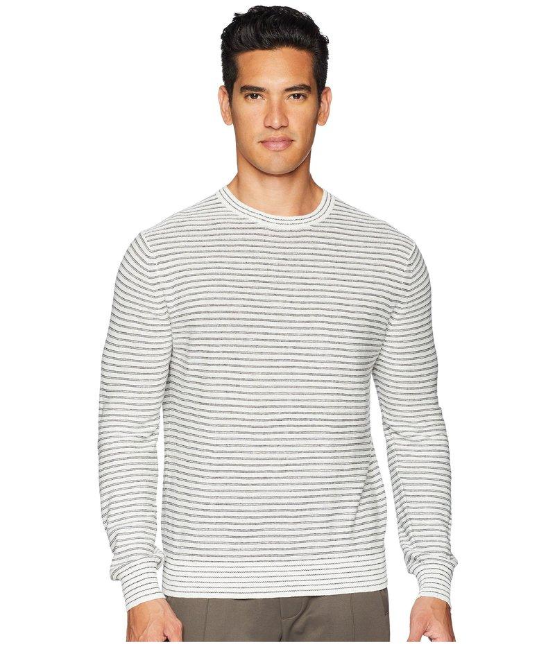 ヴィンス メンズ ニット・セーター アウター Striped Sweater Heather White/Heather Black