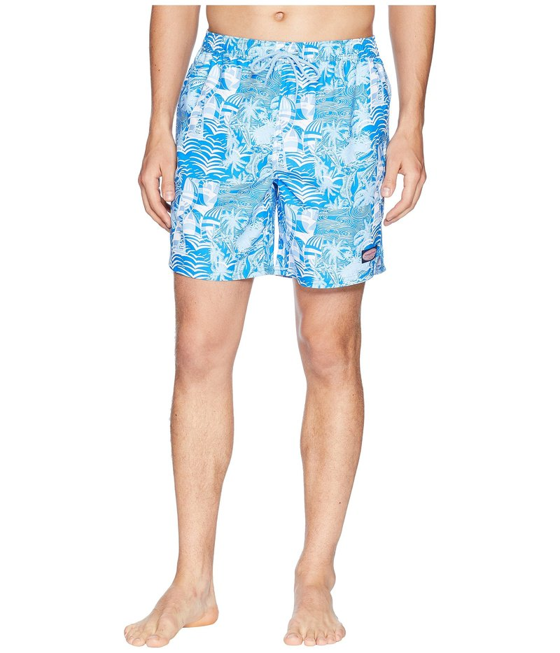 ヴァインヤードヴァインズ メンズ ハーフパンツ・ショーツ 水着 At Sea Patchwork Chappy Swim Trunks Azure Blue