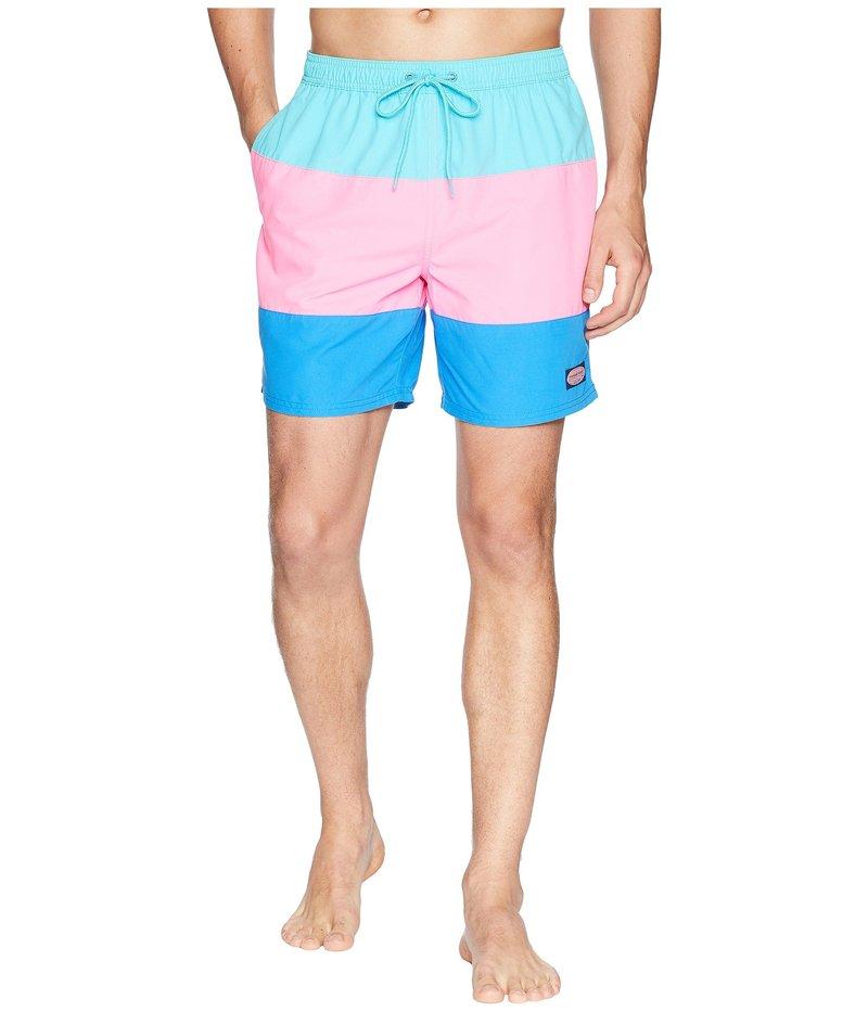 ヴァインヤードヴァインズ メンズ ハーフパンツ・ショーツ 水着 Pieced Chappy Swim Trunks Turquoise