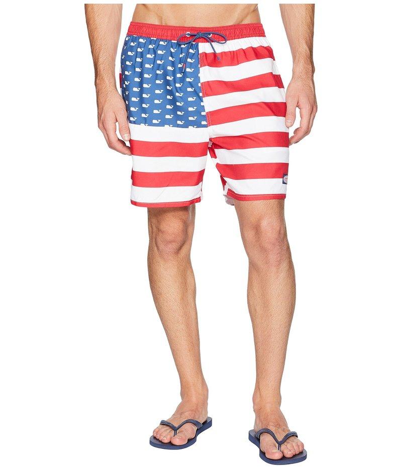 ヴァインヤードヴァインズ メンズ ハーフパンツ・ショーツ 水着 USA Flag Chappy Swim Trunks Moonshine