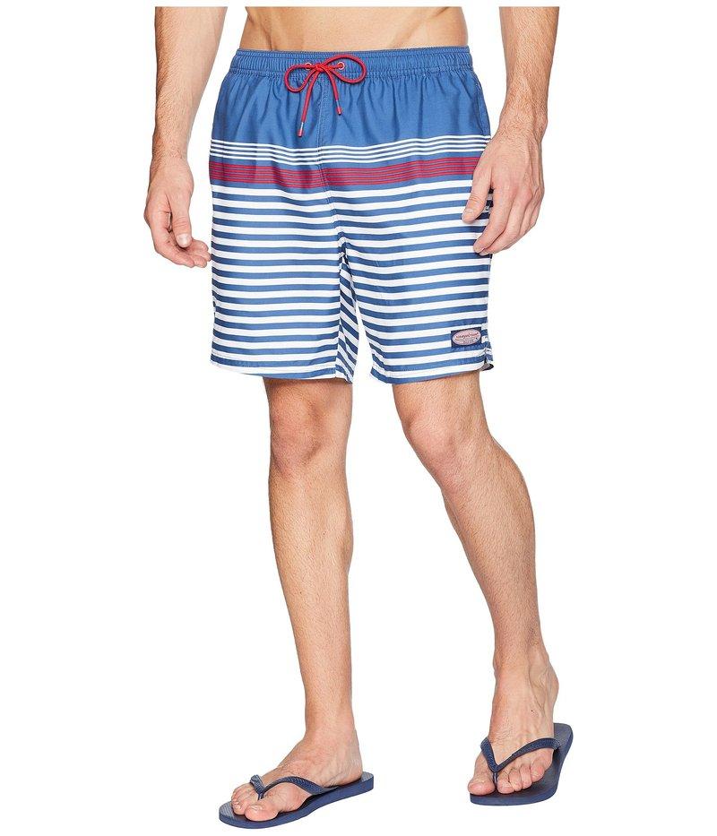 ヴァインヤードヴァインズ メンズ ハーフパンツ・ショーツ 水着 Summerall Stripe Chappy Swim Trunks Moonshine