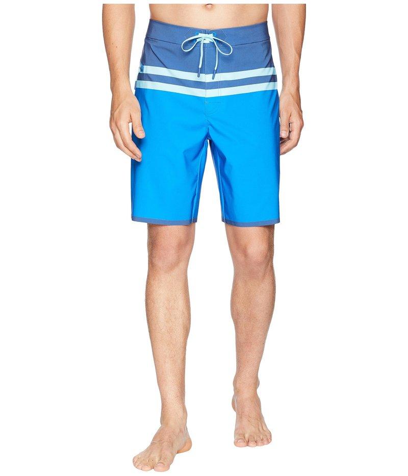 ヴァインヤードヴァインズ メンズ ハーフパンツ・ショーツ 水着 Bay Ridge Stripe Tech Boardshorts Azure Blue