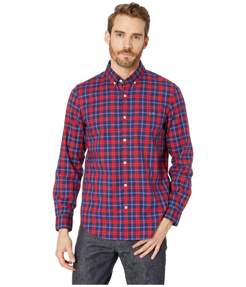 ヴァインヤードヴァインズ メンズ シャツ トップス Pacific Ave Slim Tucker Shirt Calypso Red