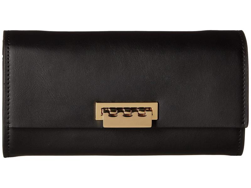 ザックポーゼン レディース ハンドバッグ バッグ Wallet Crossbody with Chain Strap - Solid Black