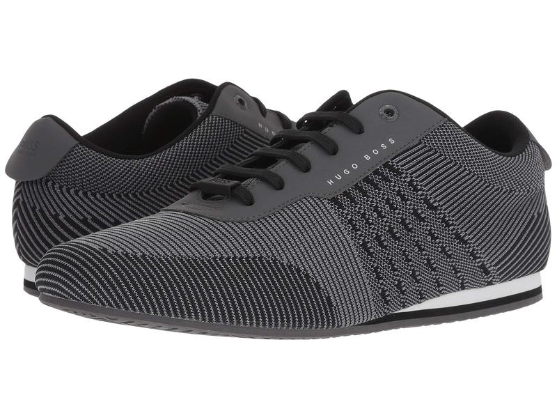 ヒューゴボス メンズ スニーカー シューズ Ligher Sporty Knit Sneaker by BOSS Green Medium Grey