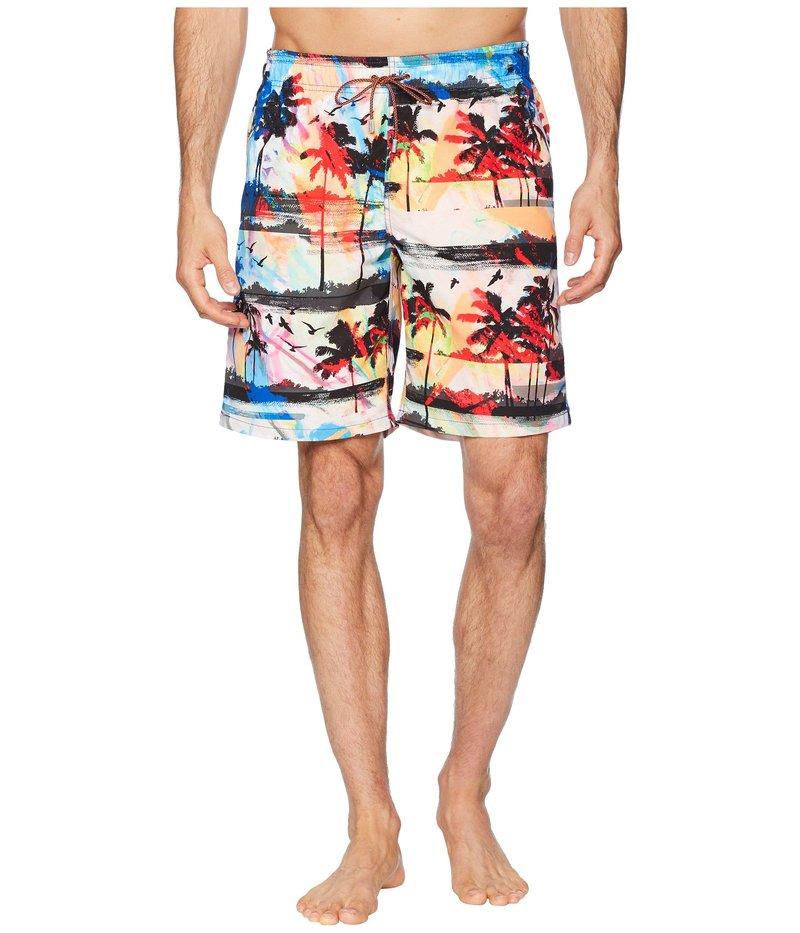 ブガッチ メンズ ハーフパンツ・ショーツ 水着 Beachfront Photo Print Swimwear Turquoise