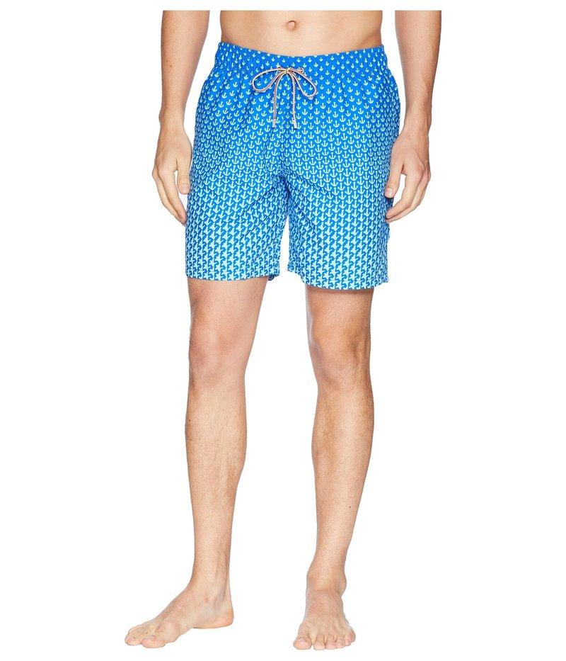 ブガッチ メンズ ハーフパンツ・ショーツ 水着 Anchor Star Swim Trunk Turquoise