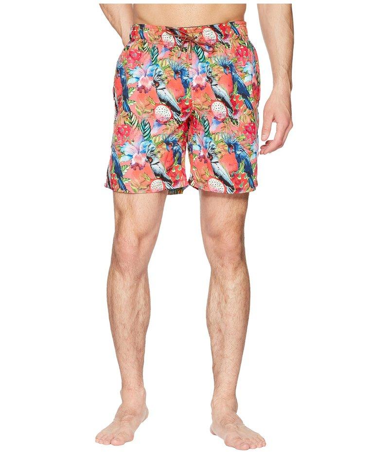 ブガッチ メンズ ハーフパンツ・ショーツ 水着 Tropical Print Swim Trunk Coral