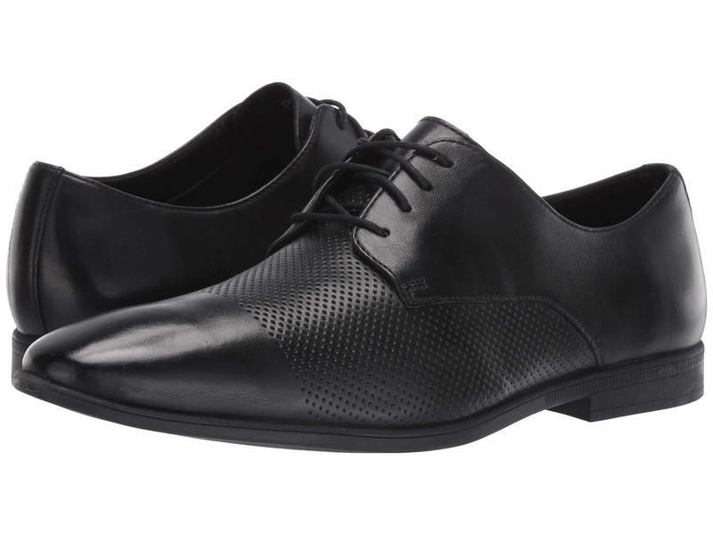 クラークス メンズ オックスフォード シューズ Bampton Cap Black Leather