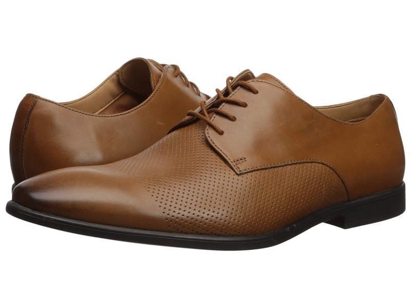 クラークス メンズ オックスフォード シューズ Bampton Cap Tan Leather
