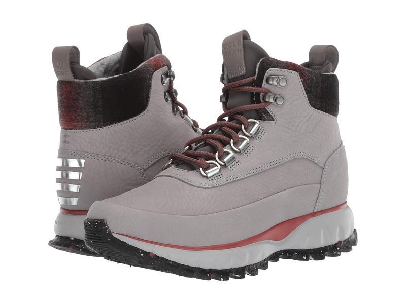 コールハーン レディース ブーツ・レインブーツ シューズ Zerogrand Explore All-Terrain Hiker Waterproof Ironstone Nubuck Waterproof/Plaid Wool/Magnet Neoprene/Red Ochre