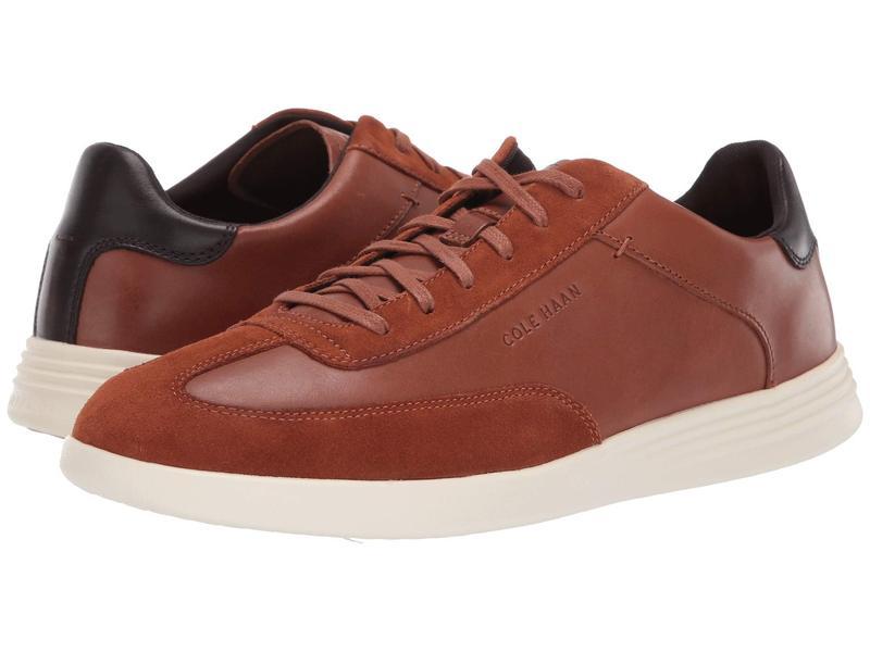 コールハーン メンズ スニーカー シューズ Grand Crosscourt Turf Sneaker British Tan Leather/Suede