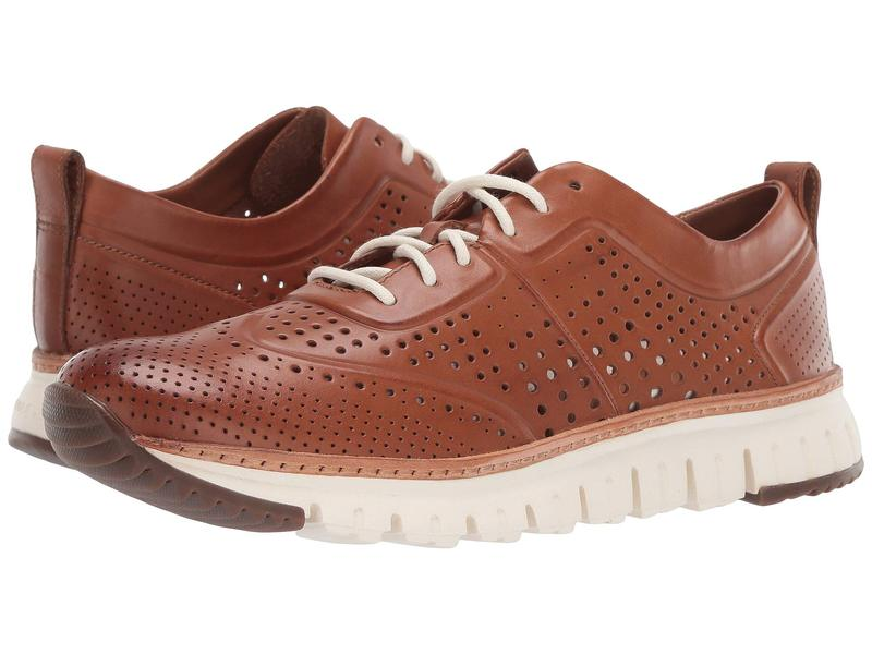コールハーン メンズ スニーカー シューズ Zerogrand Laser Perforated Sneaker British Tan