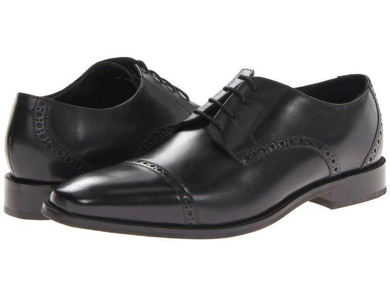 フローシャイム メンズ オックスフォード シューズ Castellano Cap Toe Oxford Black