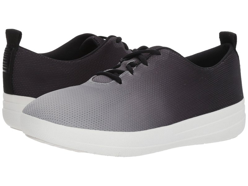 フィットフロップ レディース スニーカー シューズ Neoflex Slip-On Sneakers Black/Soft Grey