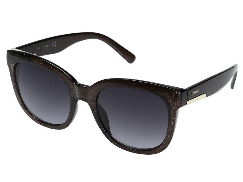 ゲス レディース サングラス・アイウェア アクセサリー GF0299 Black Glitter/Smoke Gradient Lens