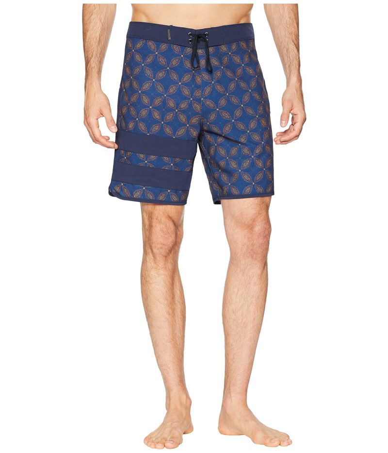 ハーレー メンズ ハーフパンツ・ショーツ 水着 Phantom Block Party Drum Circle 18 Stretch Boardshorts Blue Force