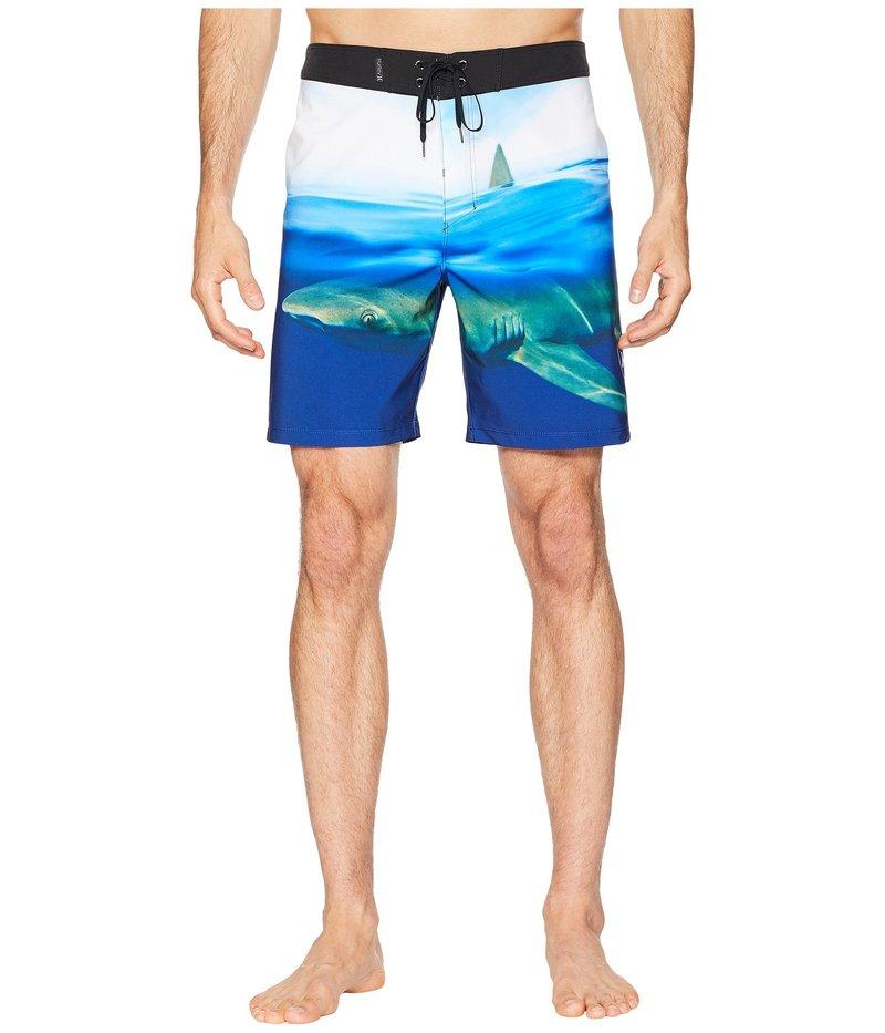ハーレー メンズ ハーフパンツ・ショーツ 水着 Phantom Clark Week 18 Stretch Boardshorts Photo Blue