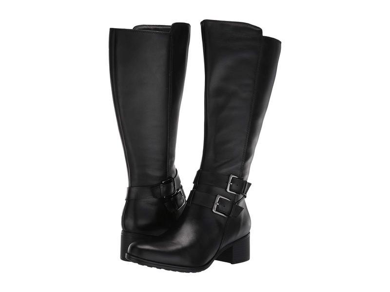 ナチュライザー レディース ブーツ・レインブーツ シューズ Dale Wide Calf Black Waterproof Leather