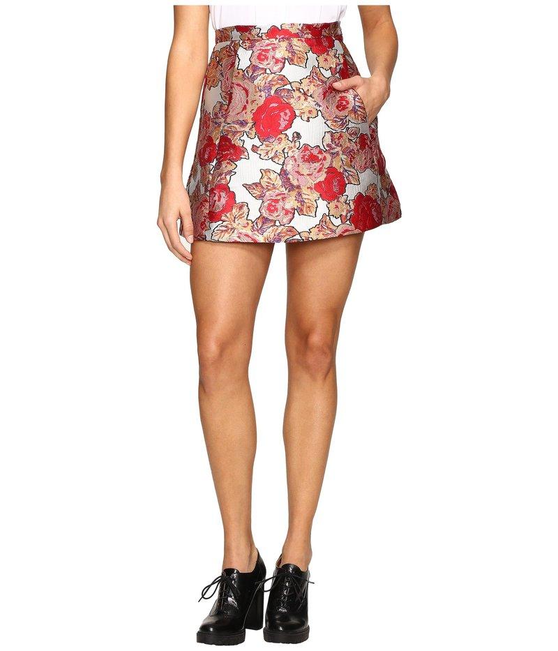レイチェルアントノフ レディース スカート ボトムス Brett Triangle Skirt Jacquard Rose Garden