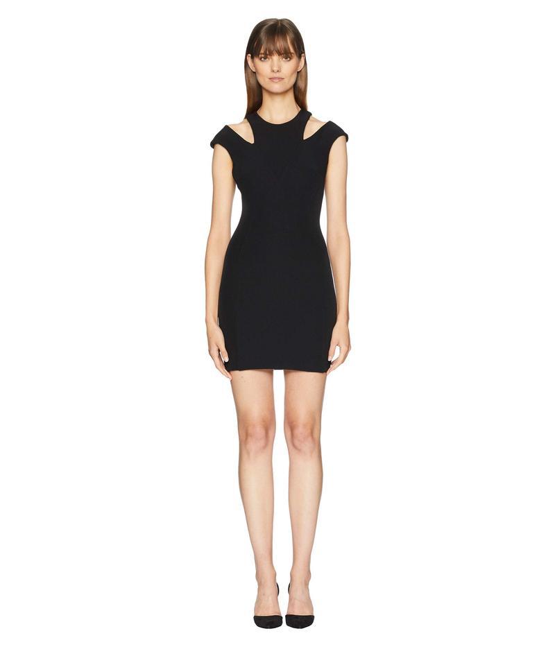 ヴェルサーチ レディース ワンピース トップス Cut Out Shoulders Cap Sleeve Dress Black