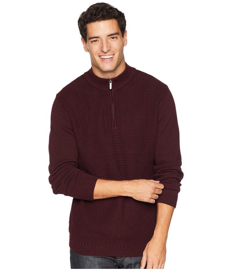 ベンシャーマン メンズ ニット・セーター アウター 1/4 Zip Funnel Neck Sweater Dark Red