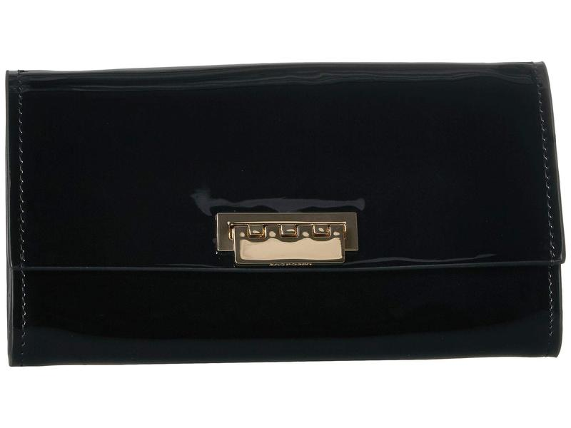ザックポーゼン レディース ハンドバッグ バッグ Wallet Crossbody with Chain - Patent Black