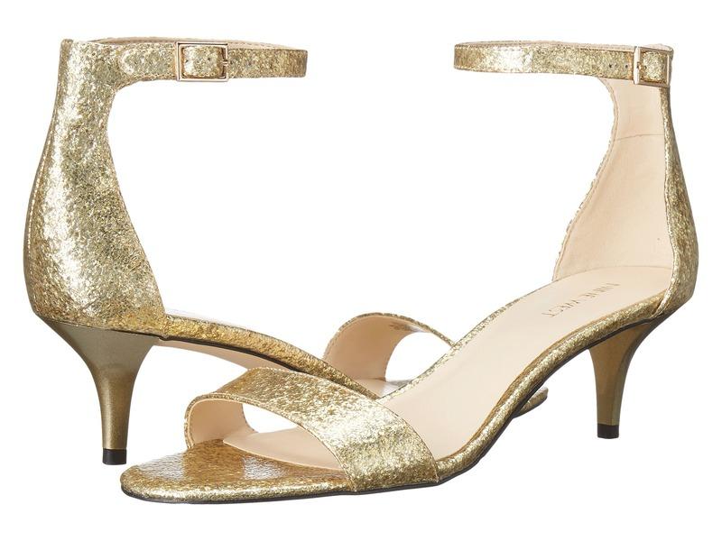 ナインウェスト レディース サンダル シューズ Leisa Heel Sandal Light Gold Synthetic