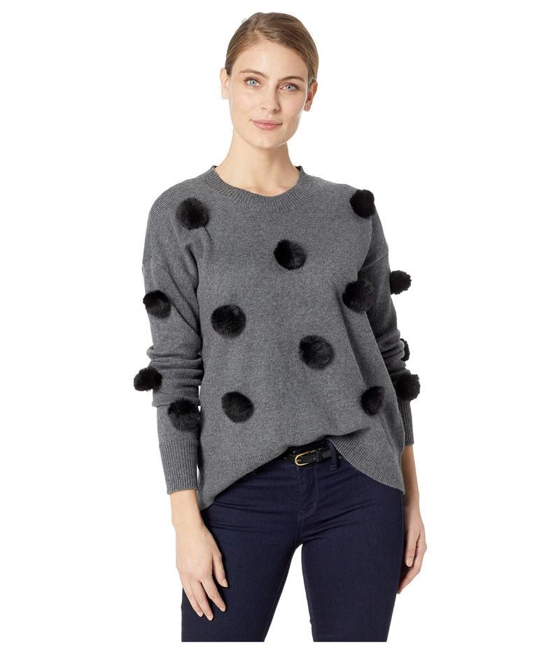 セセ レディース ニット・セーター アウター Long Sleeve Pom Pom Pullover Sweater Medium Heather Grey