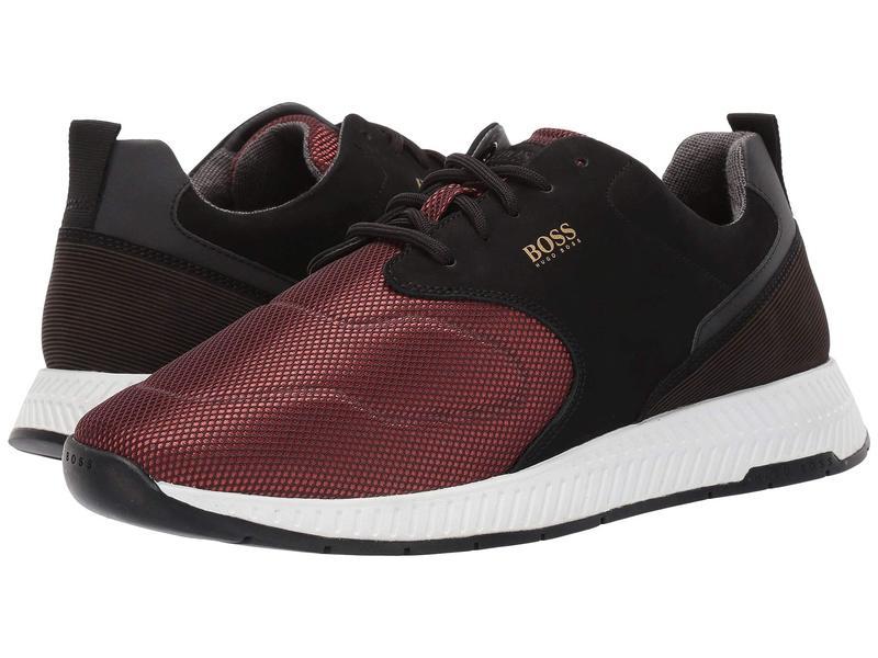ヒューゴボス メンズ スニーカー シューズ Titanium Run Sneaker By BOSS Dark Red